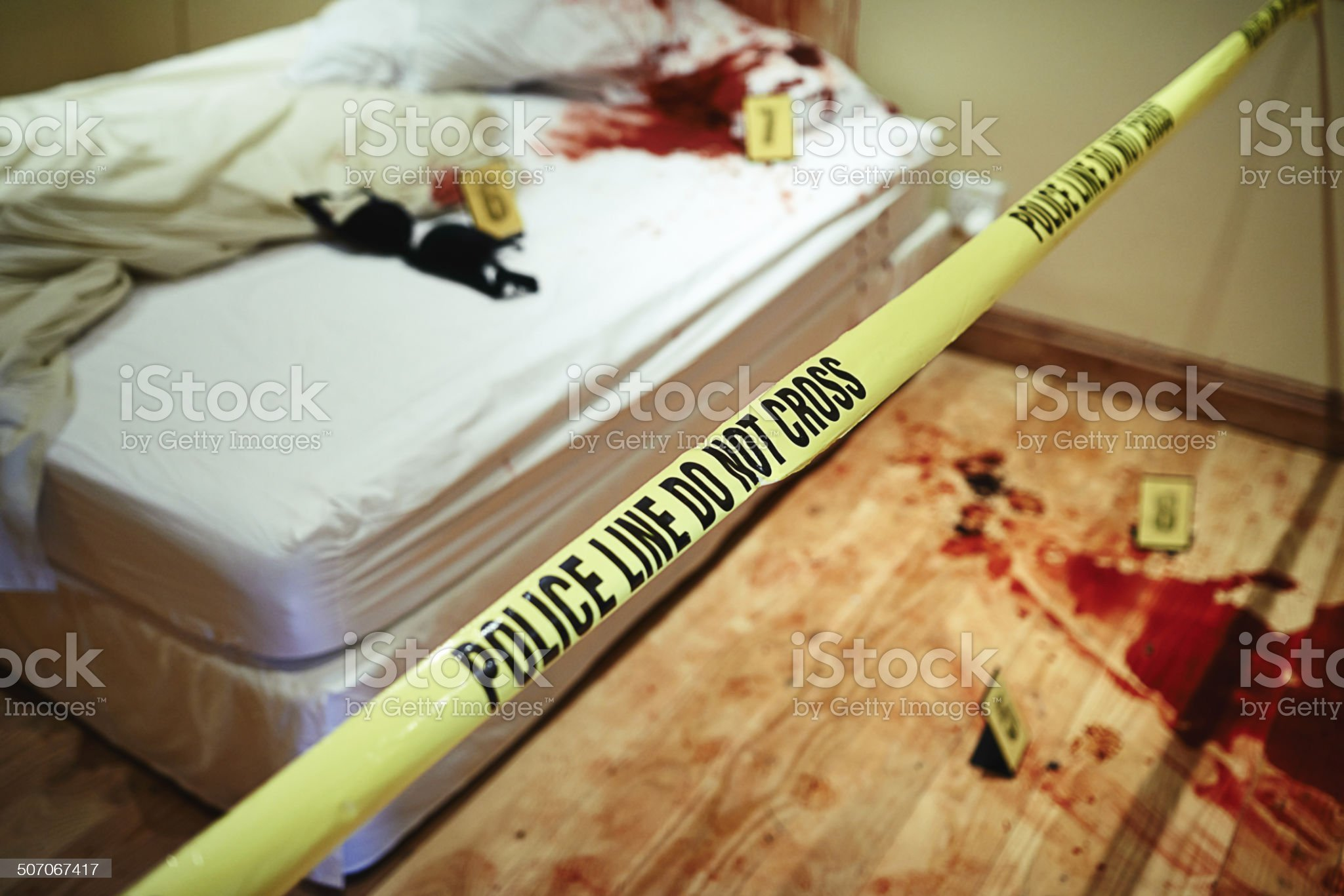 Bloody bedroom royalty-free stock photo