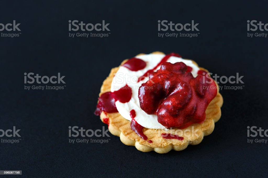 Bloody brain biscuits. stock photo