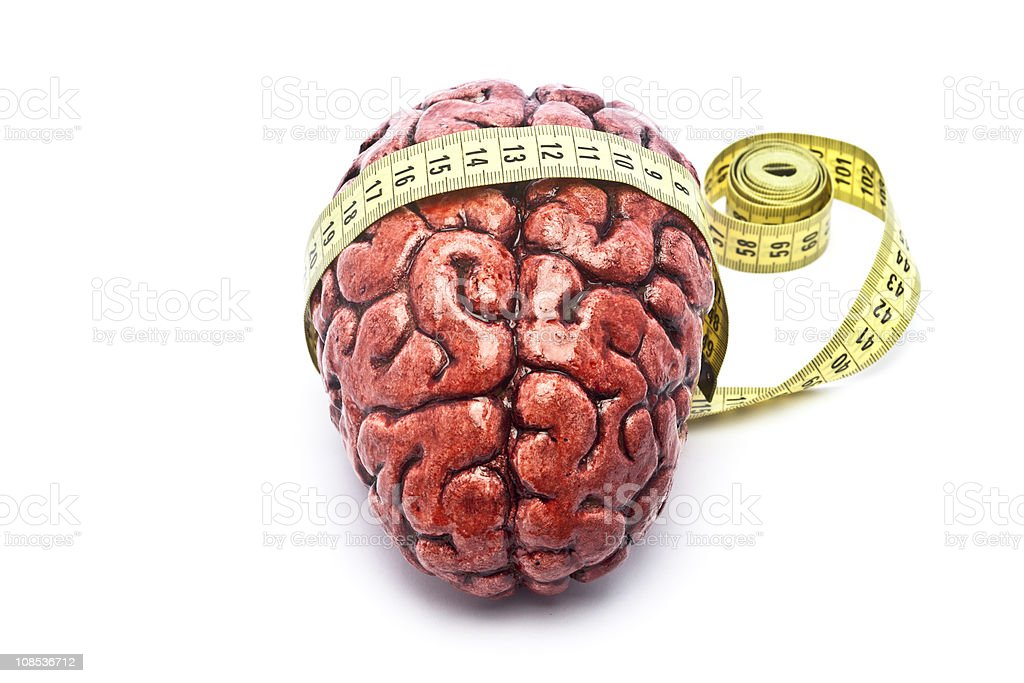 Bloody Brain with Tape on White royalty-free stock photo