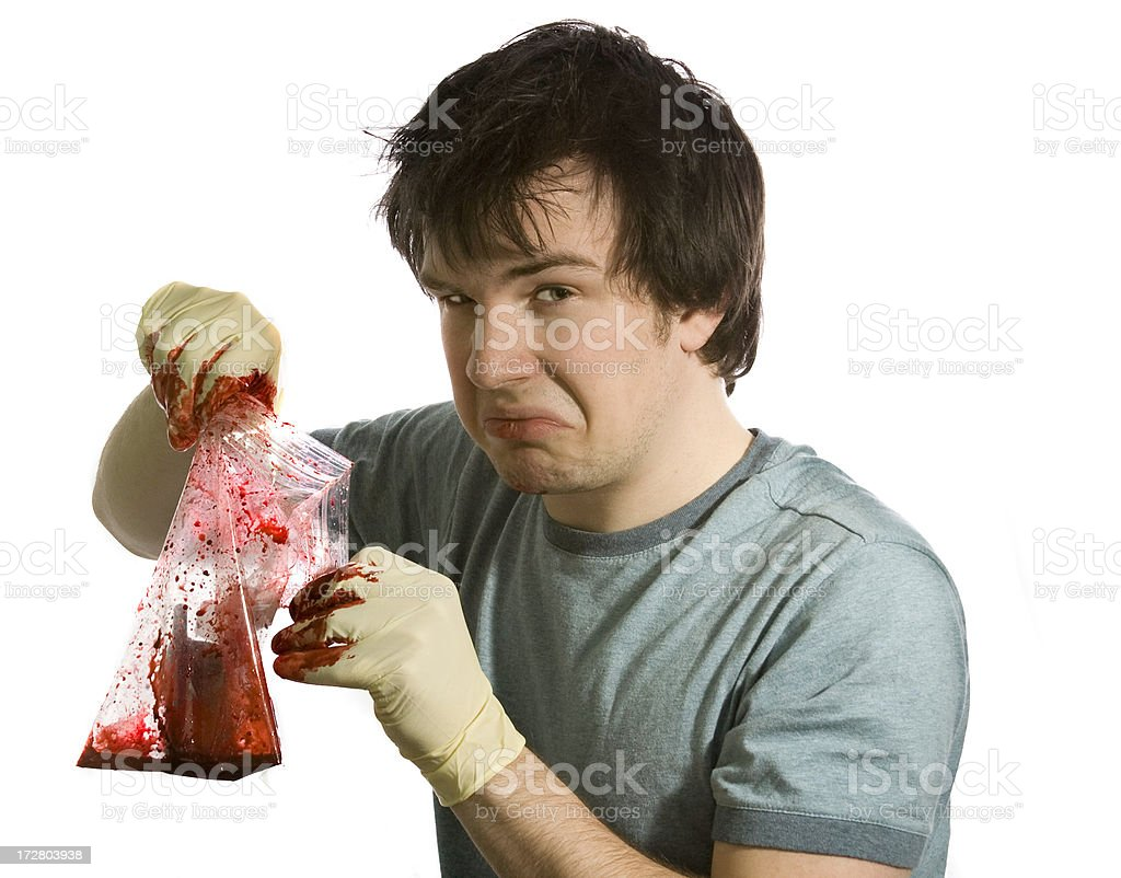 bloody cell phone stock photo