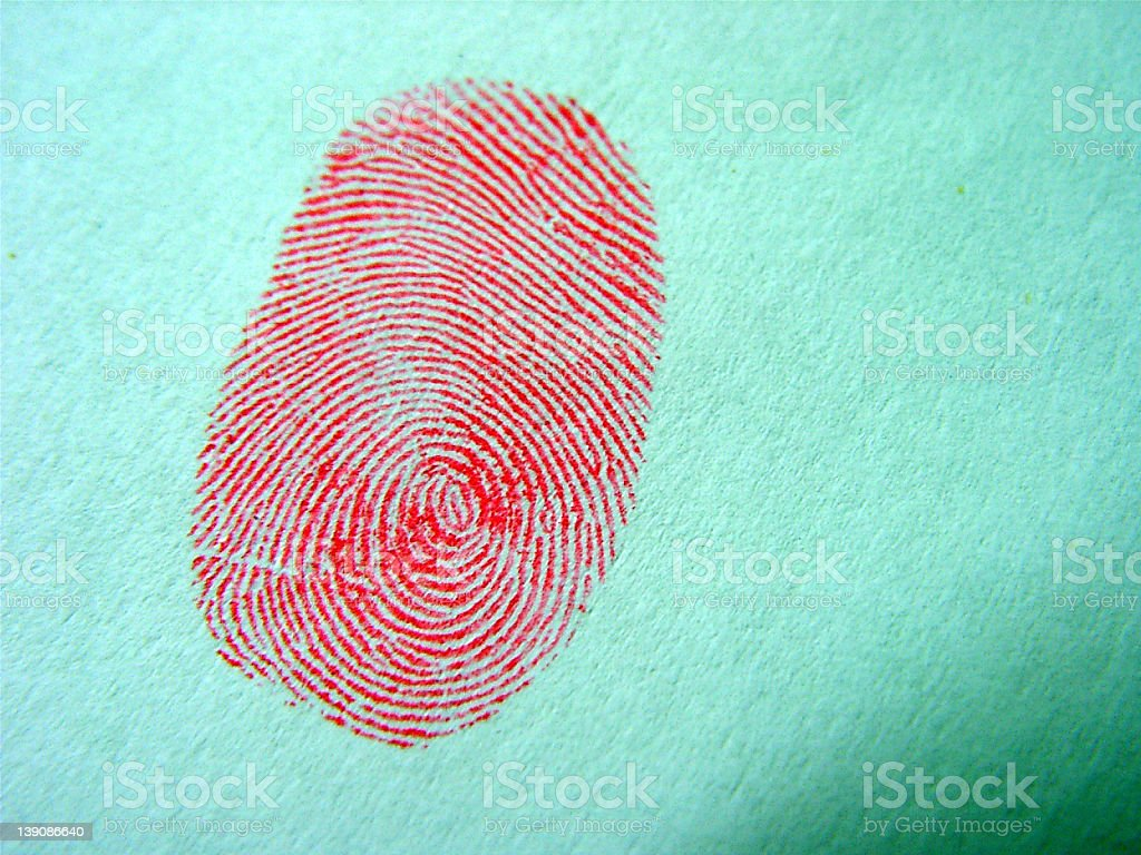 Bloody Finger Print royalty-free stock photo