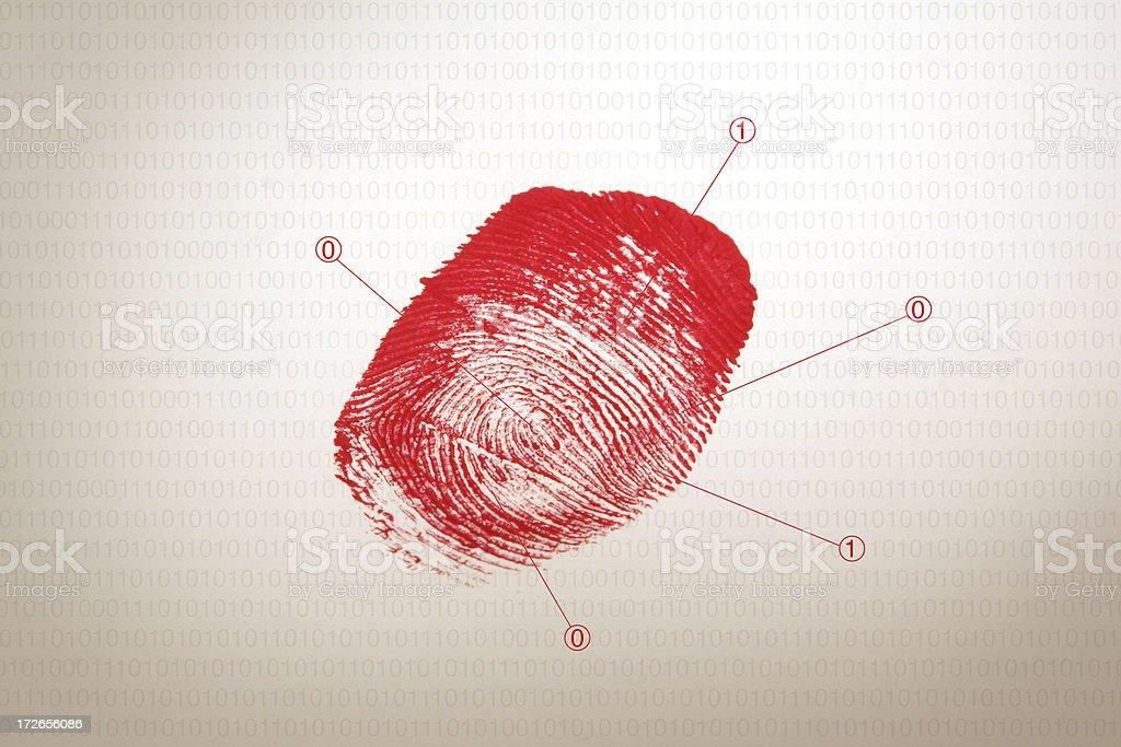 Bloody fingerprint royalty-free stock photo