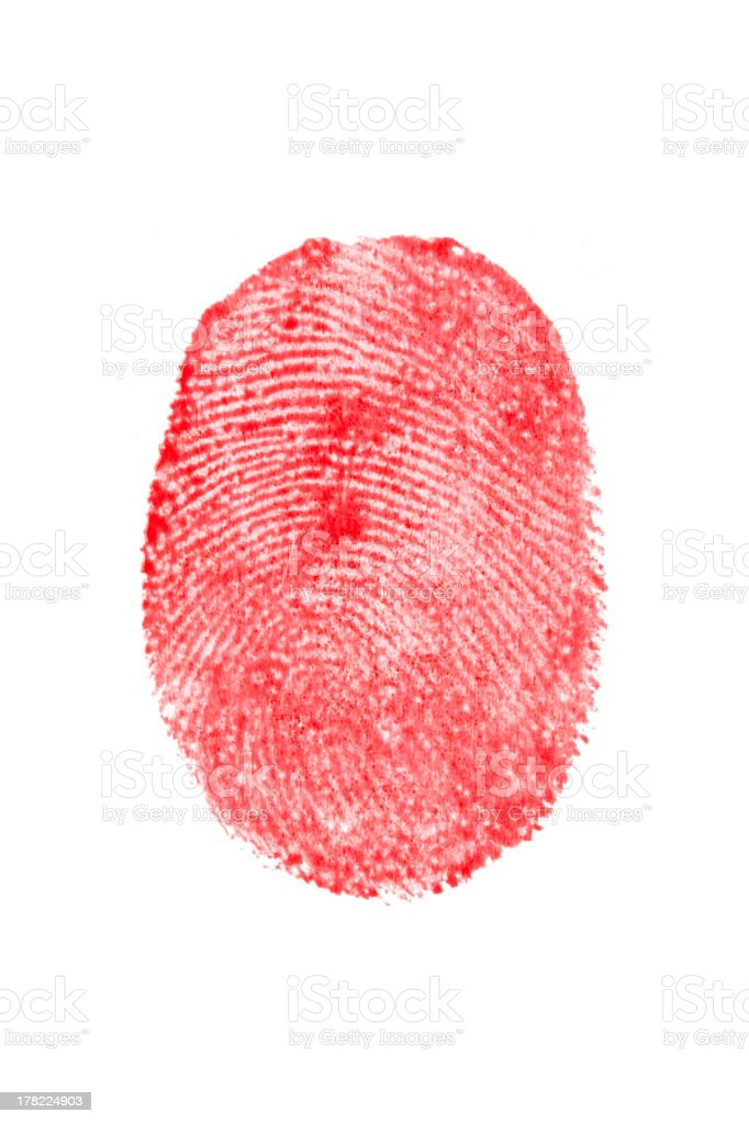 Bloody Fingerprint royalty-free stock photo