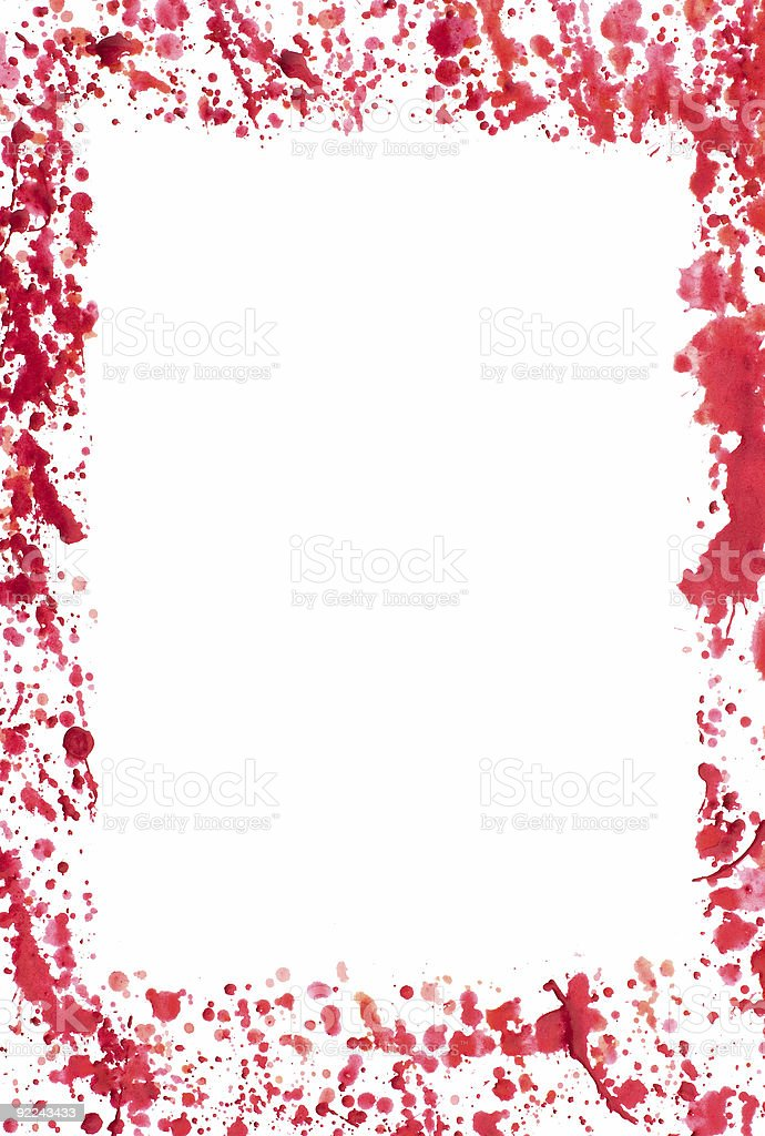 Bloody frame royalty-free stock photo