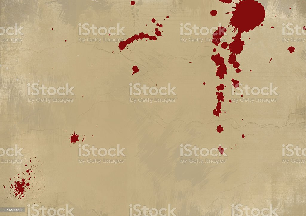 Bloody Grunge Wall royalty-free stock photo
