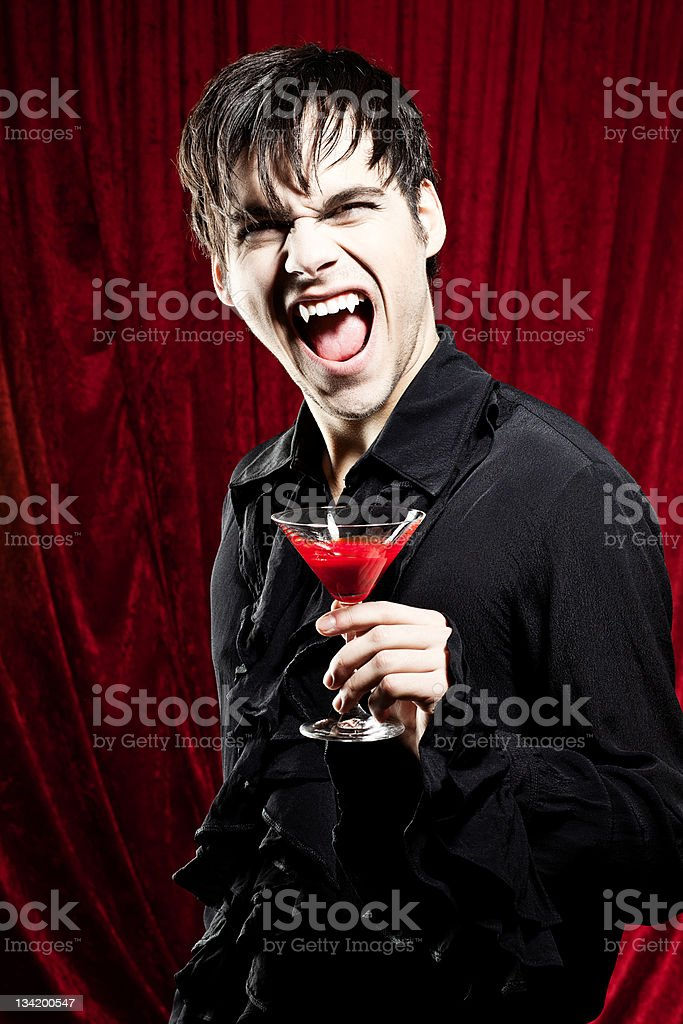 Bloody Halloween drink stock photo