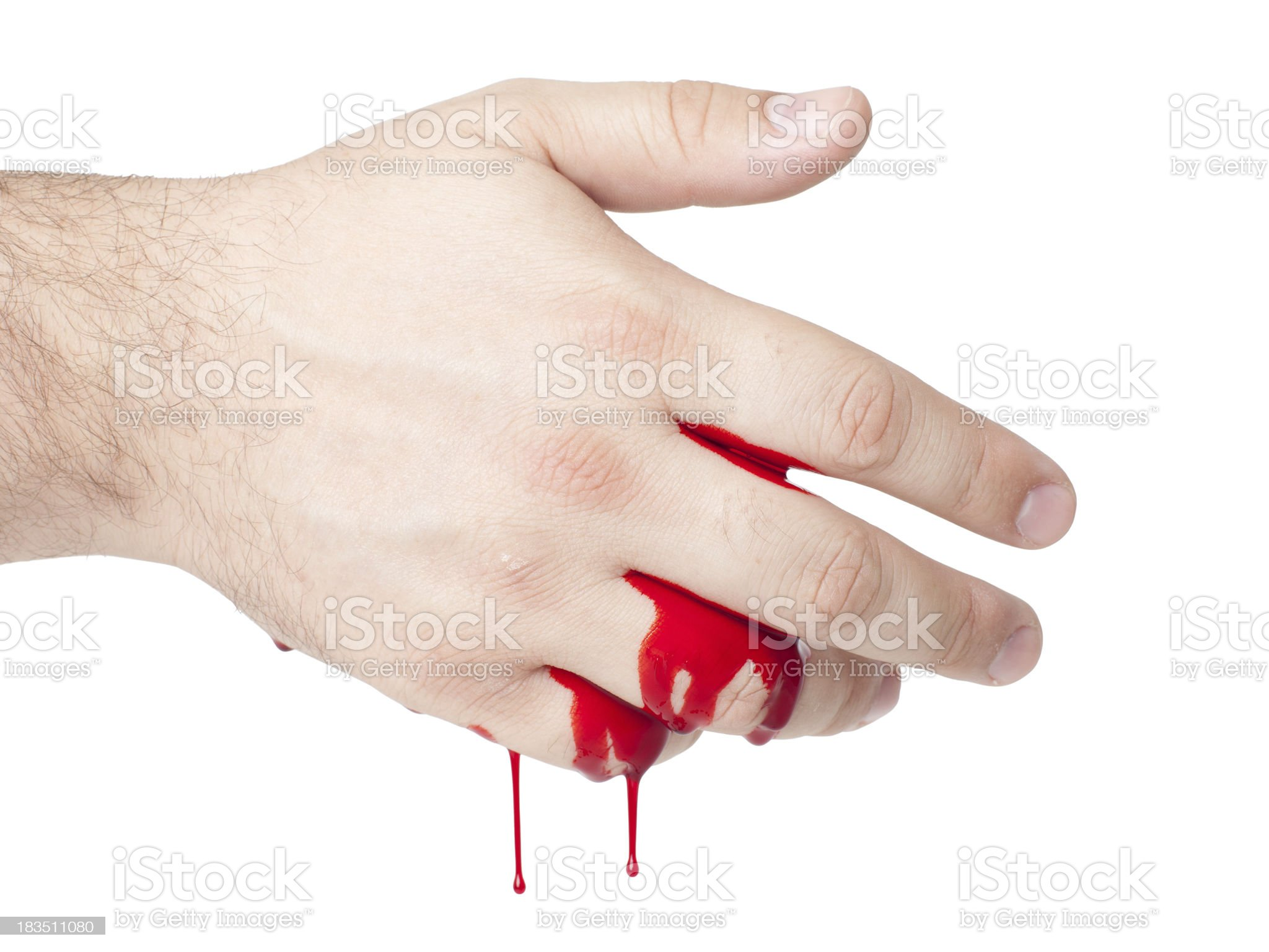 bloody hand royalty-free stock photo