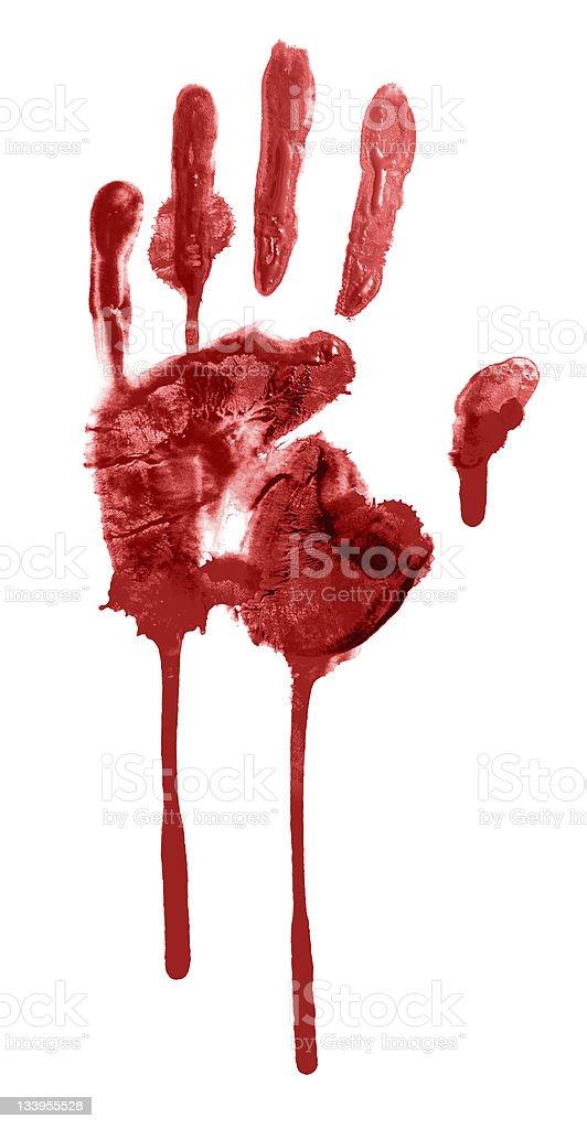 bloody handprint stock photo