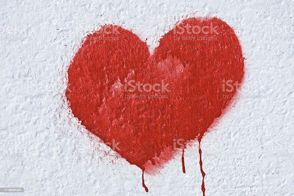 Bloody Heart royalty-free stock photo