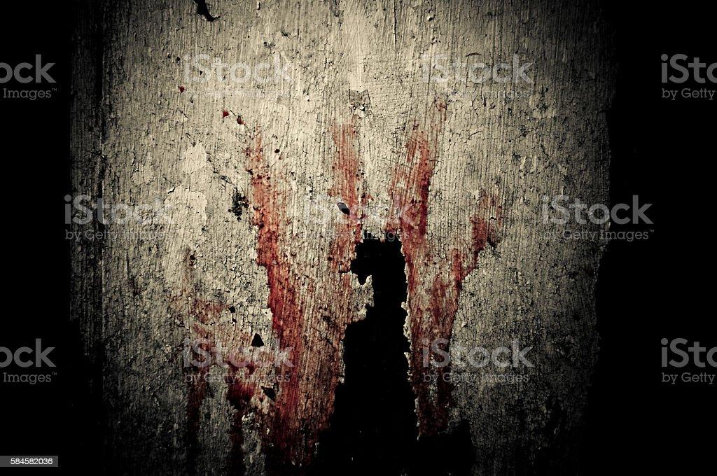 Bloody imprint stock photo