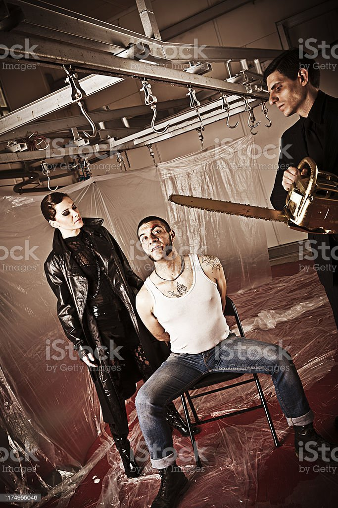 Bloody interrogation royalty-free stock photo