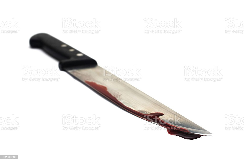 Bloody Knife royalty-free stock photo