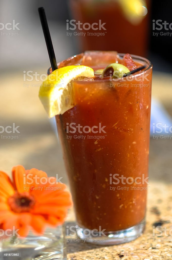 Bloody Mary at Sidewalk Cafe stock photo