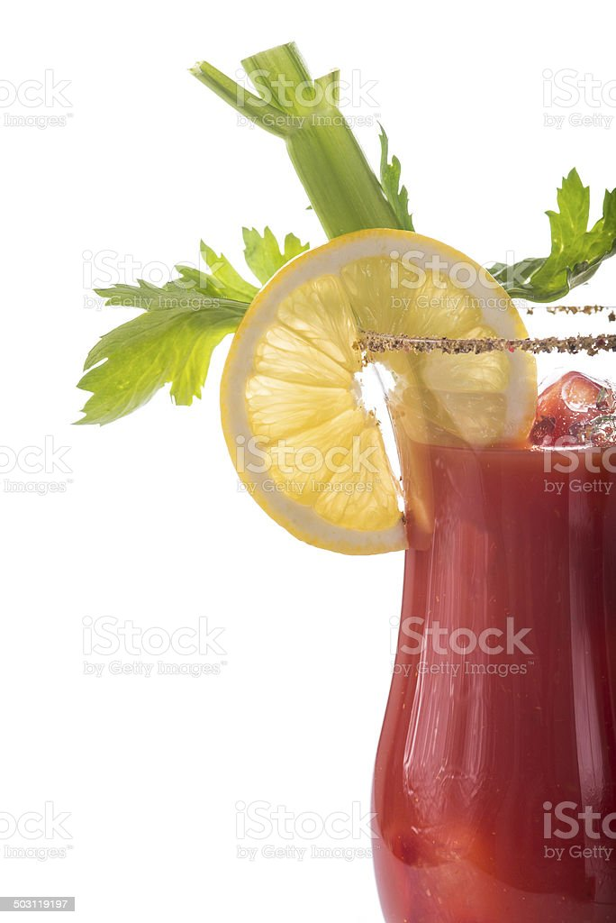 Bloody Mary cocktail isolated on a white background stock photo