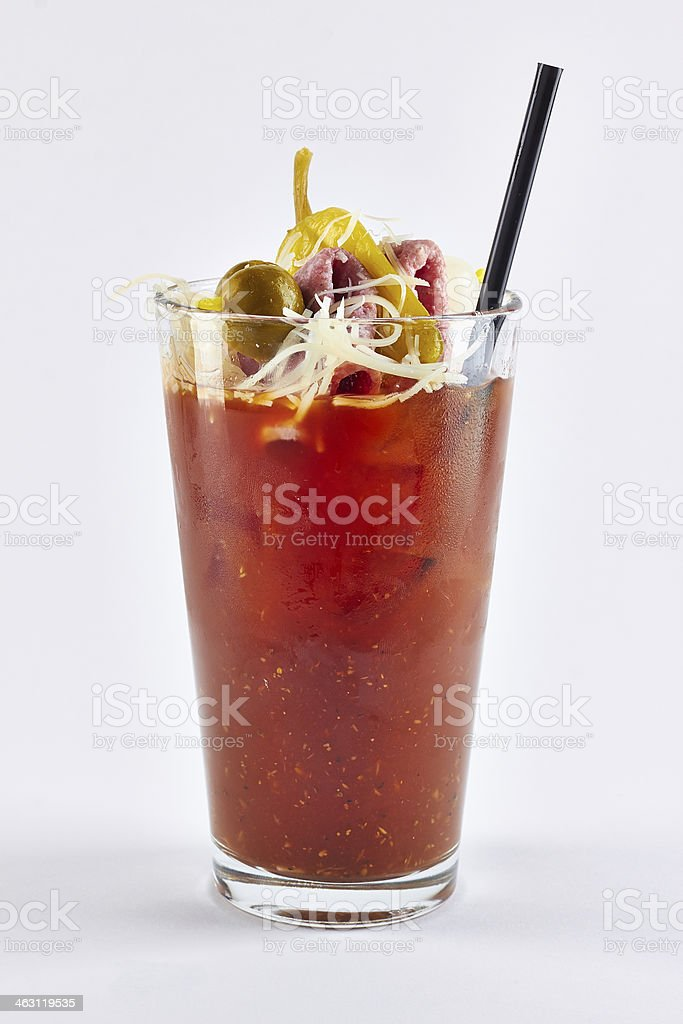 bloody Mary cocktail stock photo