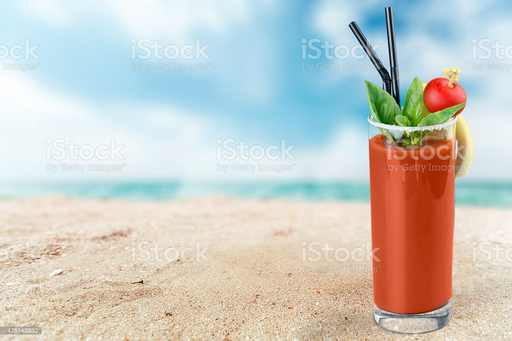 Bloody Mary, Cocktail, Tomato Juice stock photo