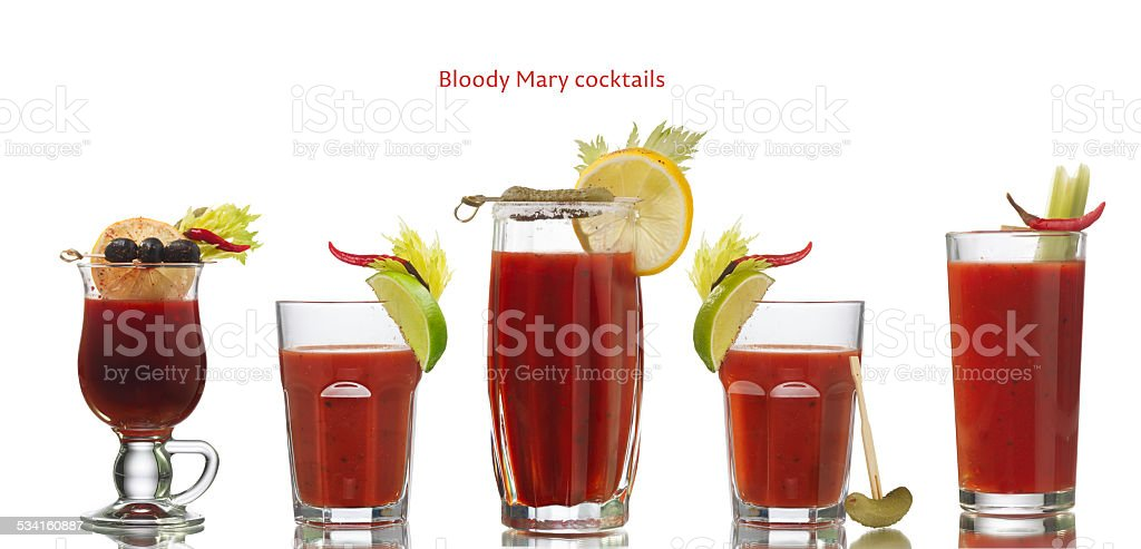 Bloody Mary cocktails stock photo