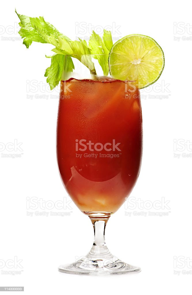 Bloody mary drink stock photo