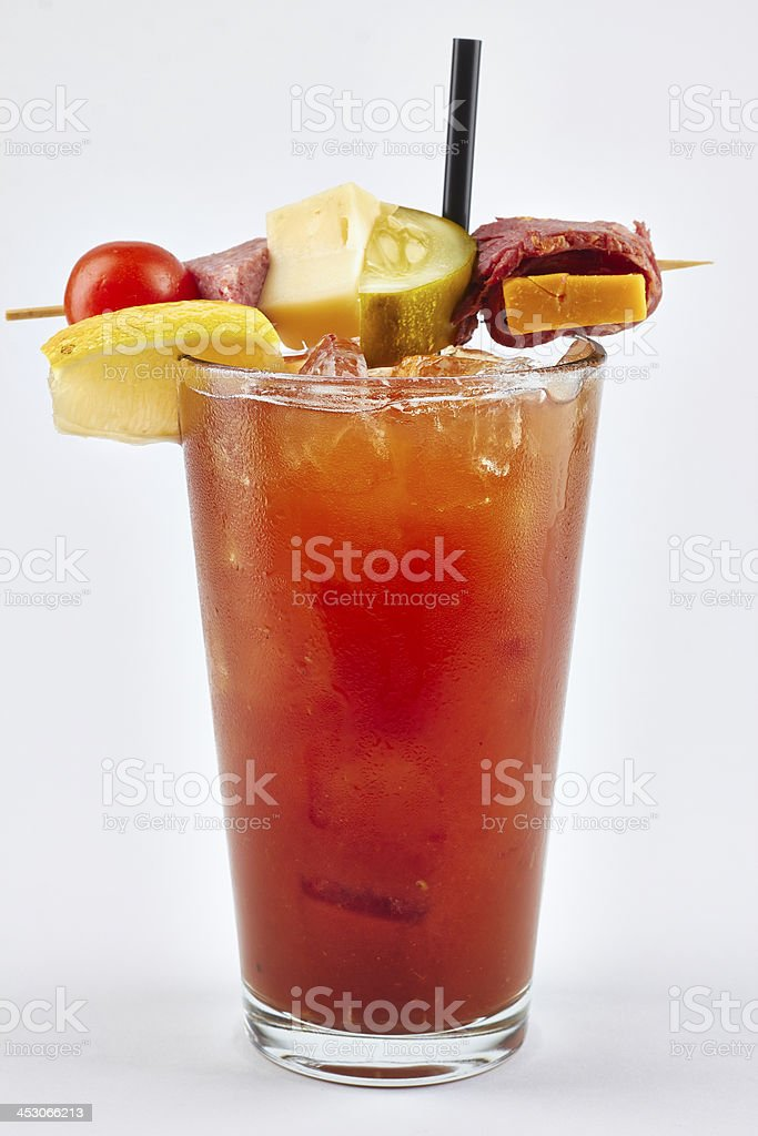 Bloody Mary on white Background stock photo