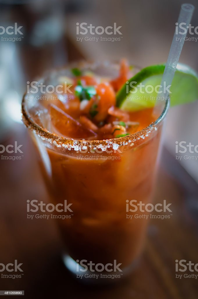 Bloody Mary With Lime stock photo