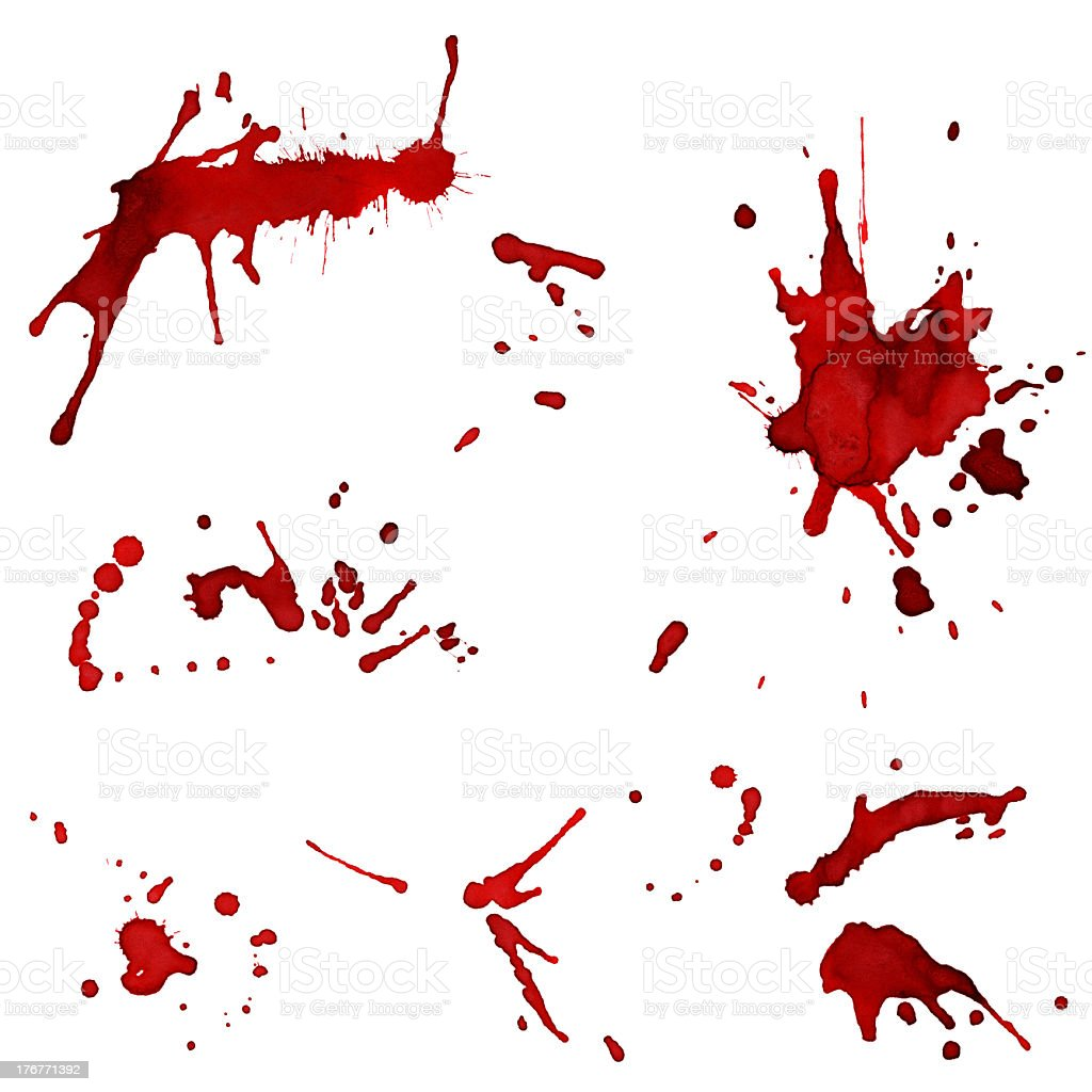 Bloody red blots stock photo