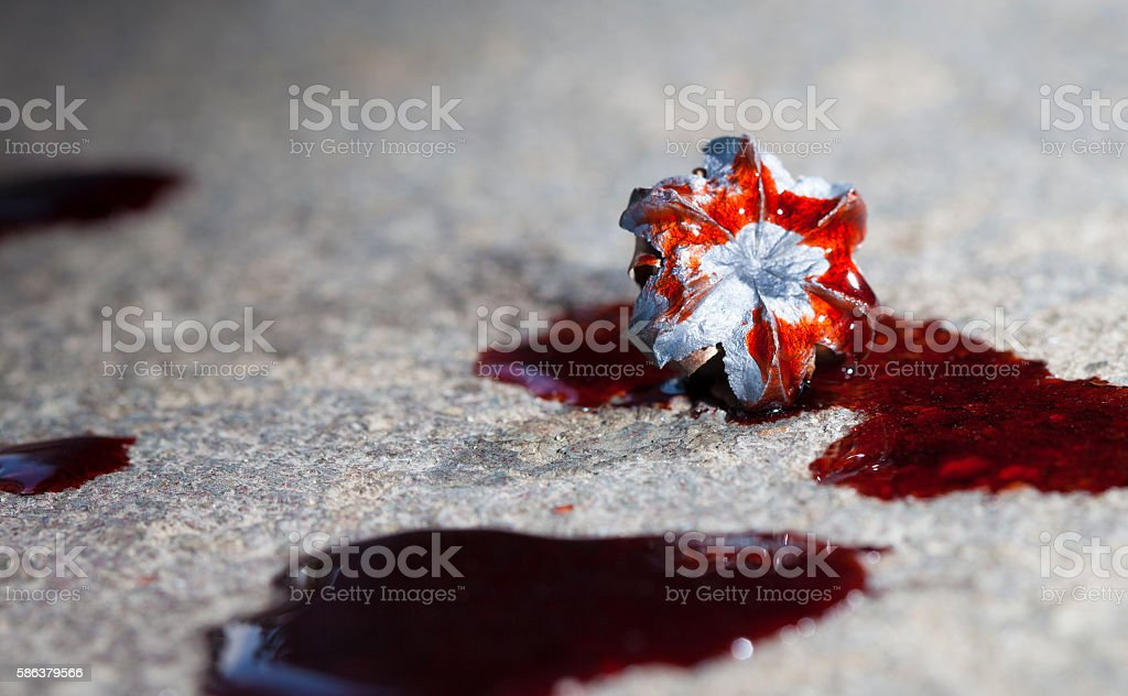 Bloody round stock photo