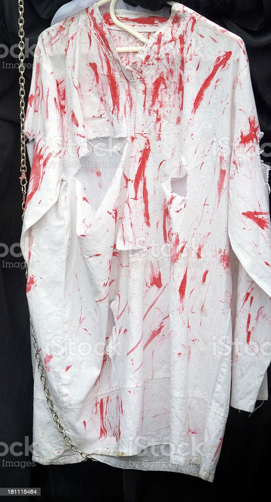 bloody shirt royalty-free stock photo