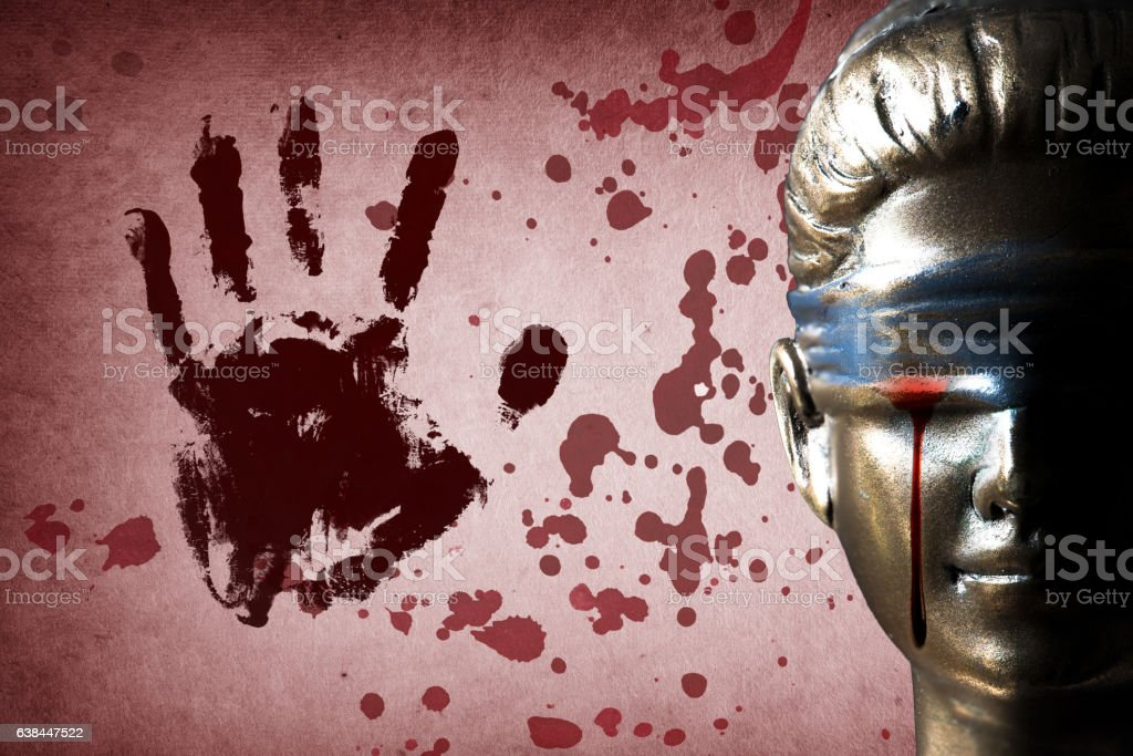 Bloody tear of Themis stock photo