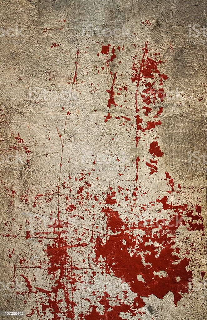 Bloody wall I stock photo