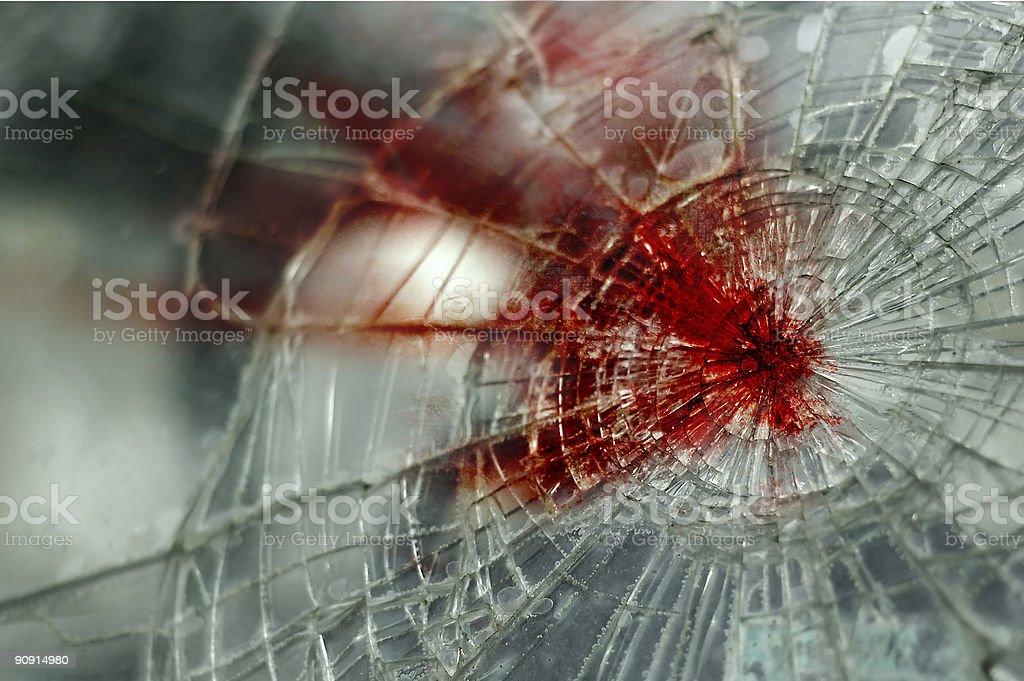 Bloody Windshield stock photo