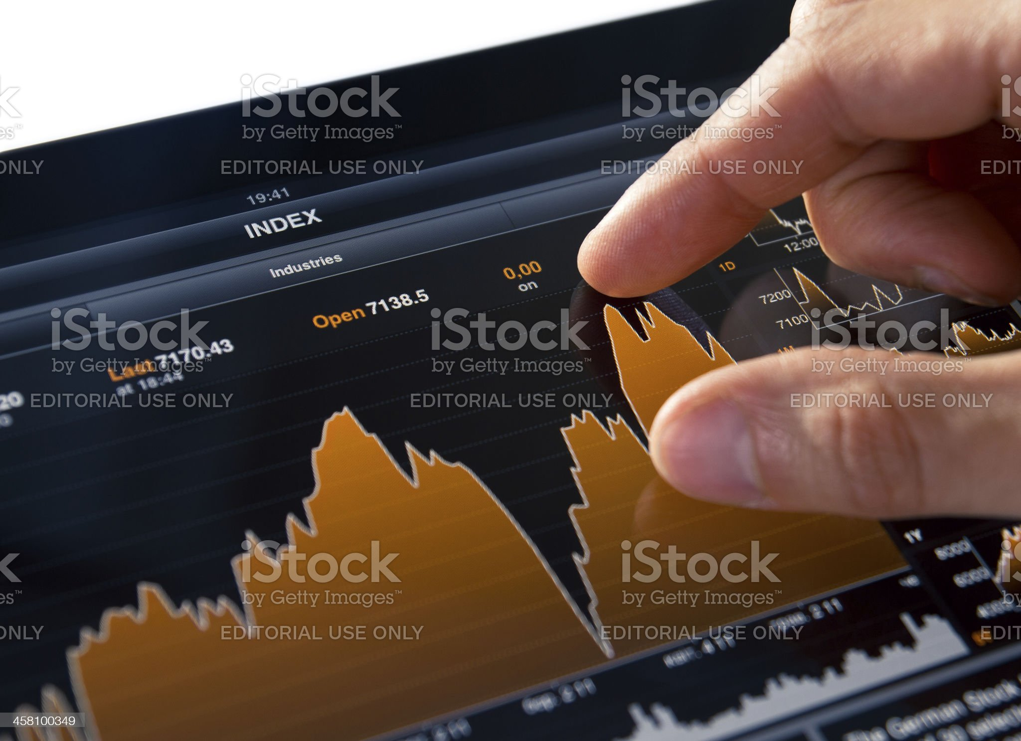 Bloomberg Application on Apple Ipad 2 royalty-free stock photo