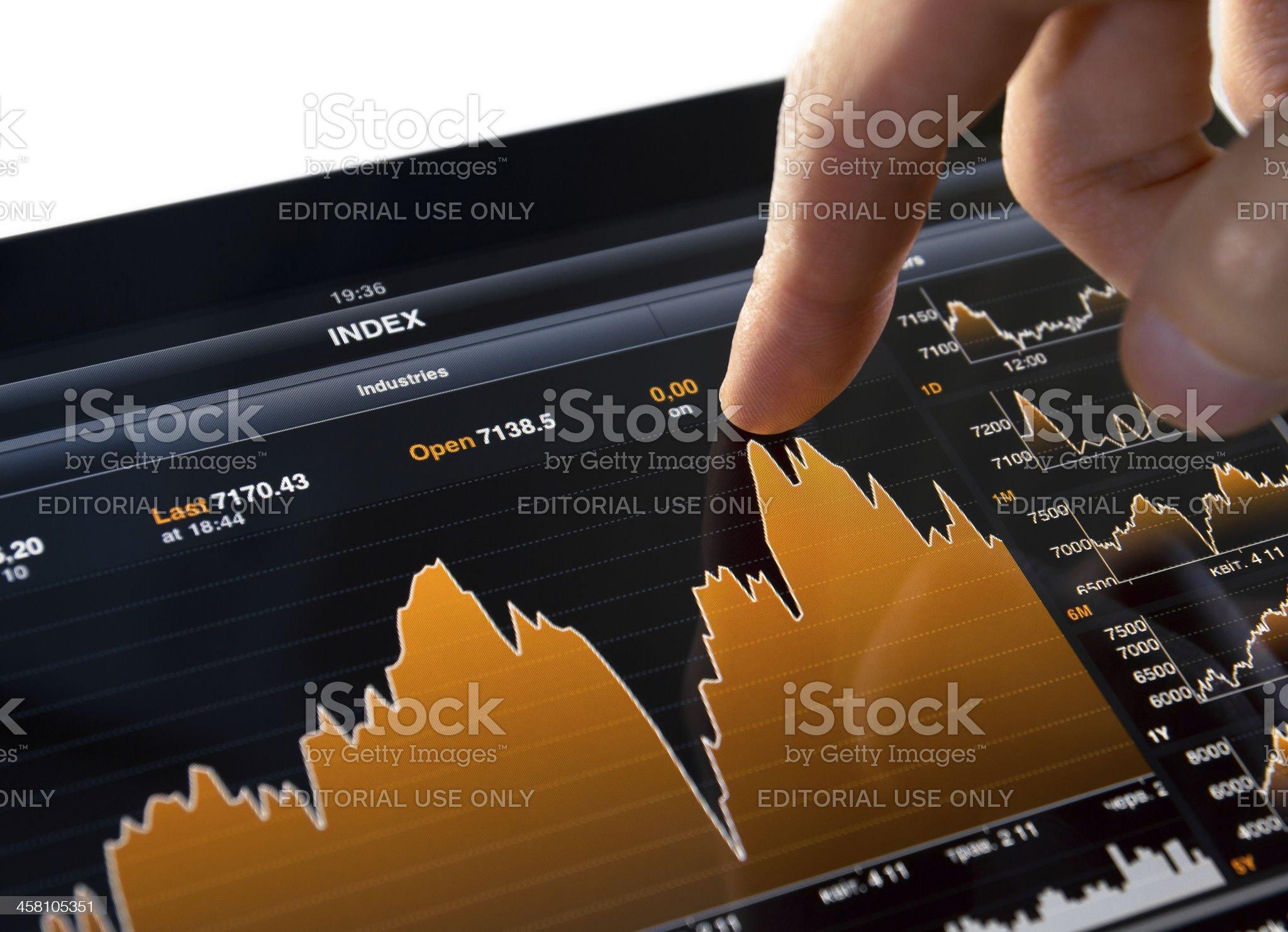 Bloomberg Application on Apple Ipad 2 royalty-free stock photo