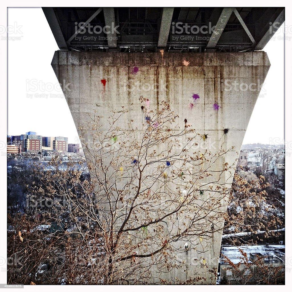 Bloomfield Bridge Pittsburgh stock photo