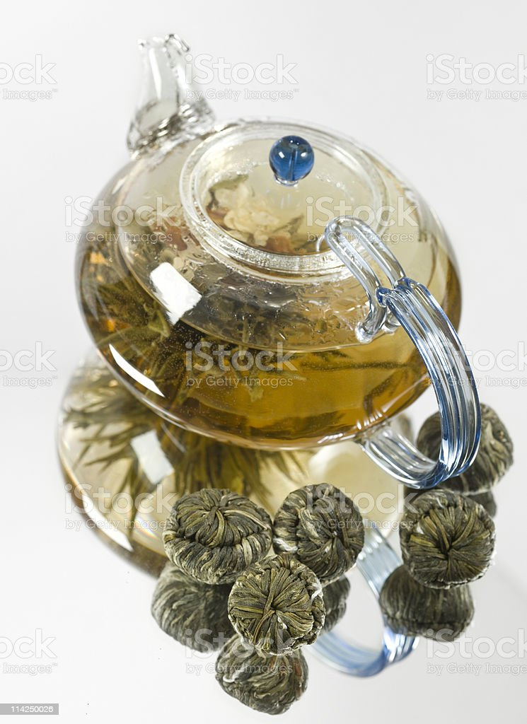 blooming tiger tea royalty-free stock photo