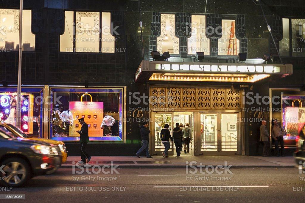 Bloomingdale's Evening Manhattan stock photo