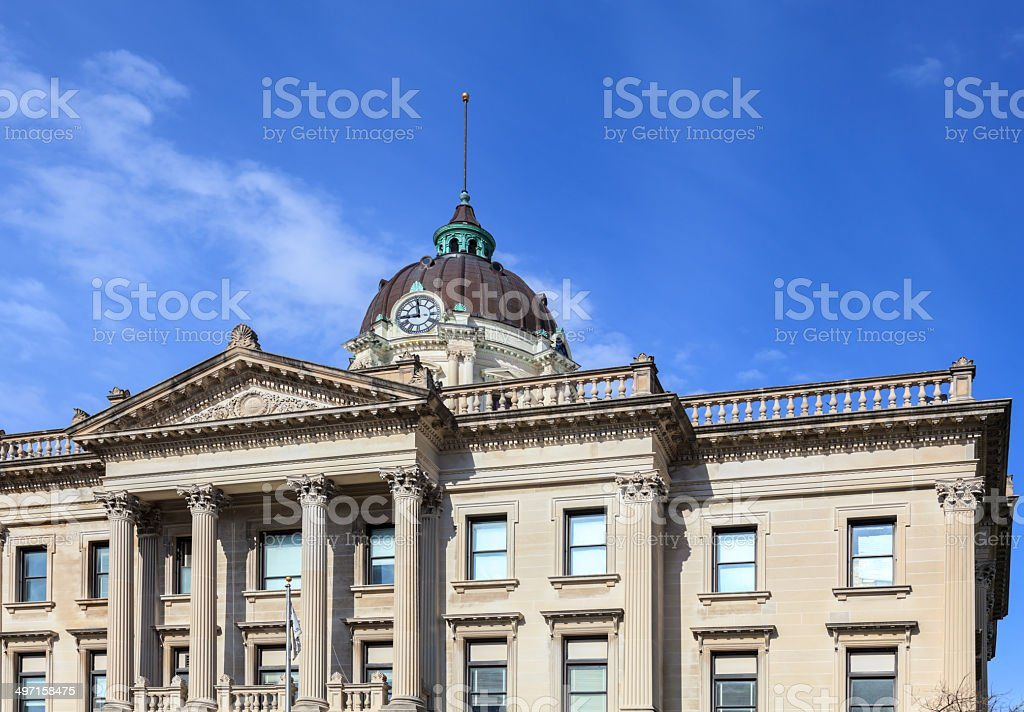 Bloomington Illinois City Hall stock photo