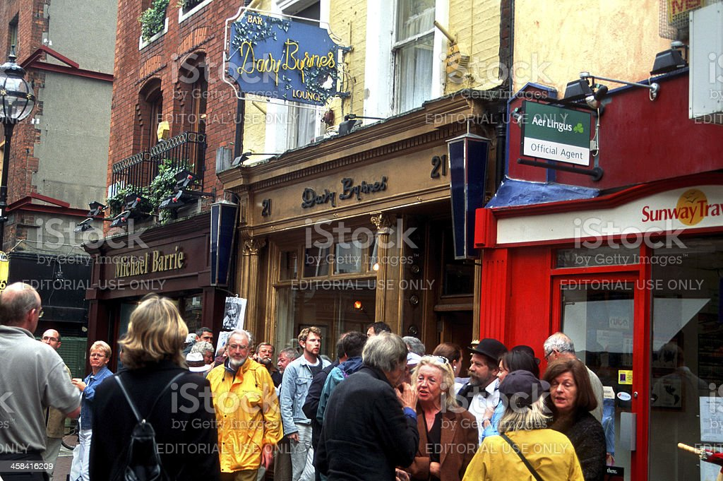 Bloomsday at Davy Byrnes stock photo
