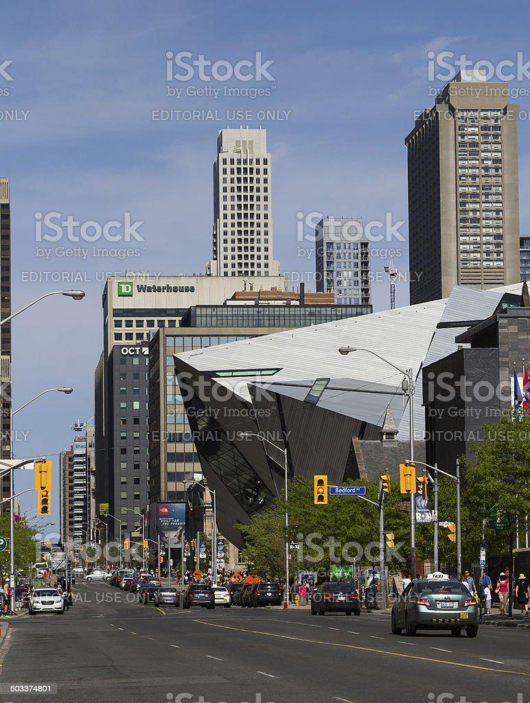 Bloor Street West stock photo