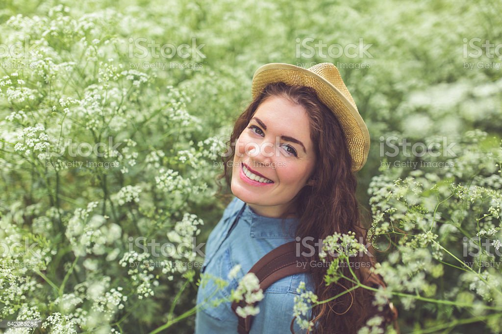 Blossomed happiness stock photo