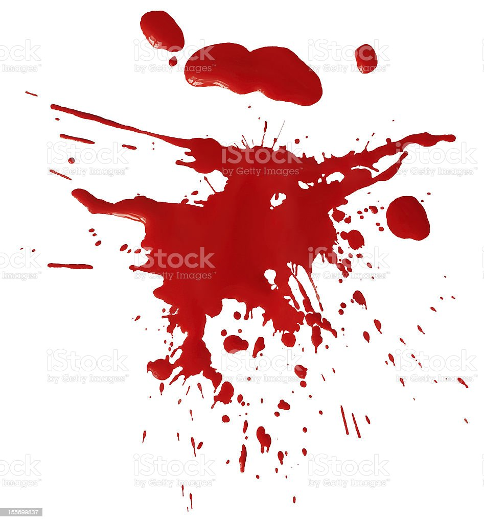 Blot of red blood stock photo