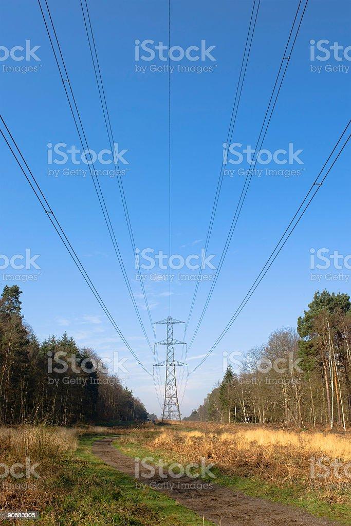 Blot on the landscape stock photo