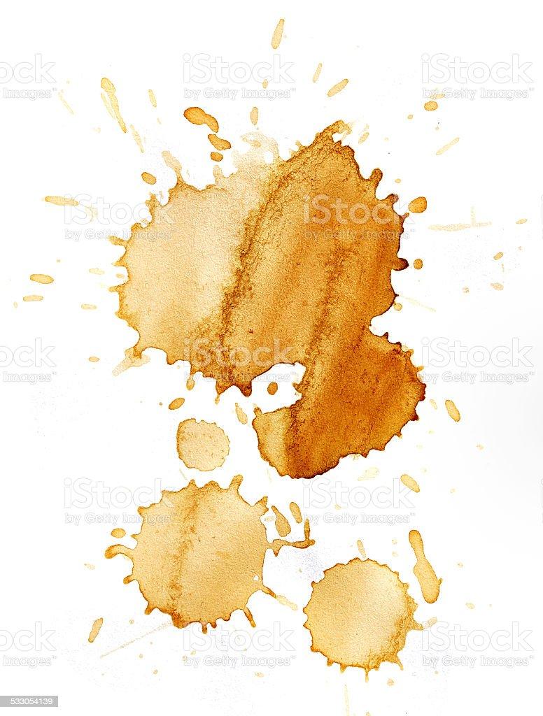 Blots of coffee stock photo