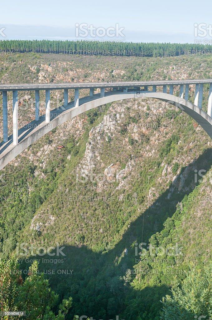 Bloukrans Bridge base jumper stock photo