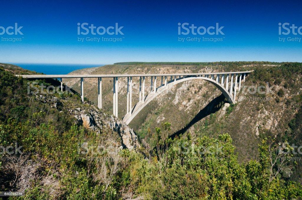 Bloukrans Bridge, Bloukrans, Eastern Cape Province, South Africa stock photo