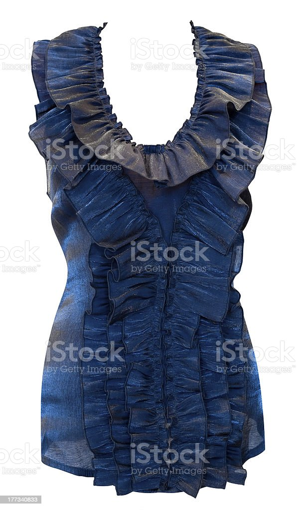 blouse with frills, clipping path stock photo