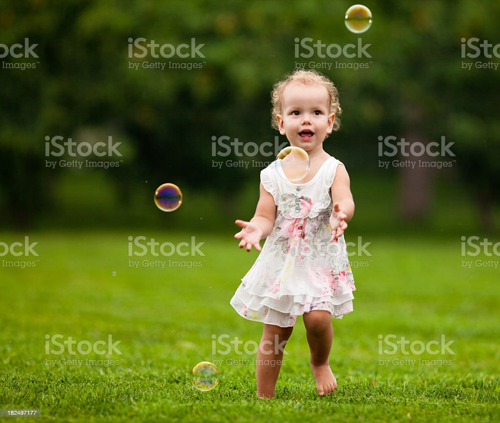Blow bubbles royalty-free stock photo