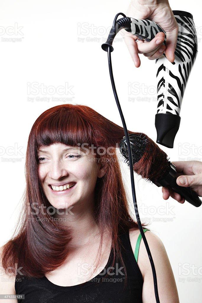 Blow Drying Hair royalty-free stock photo