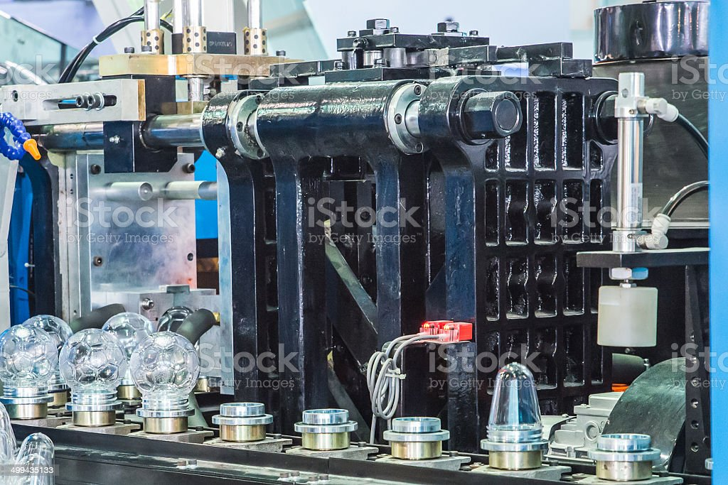 Blow Molding Machine in factory stock photo