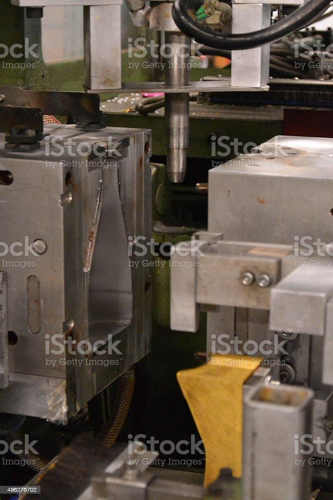 blow moulding machine stock photo