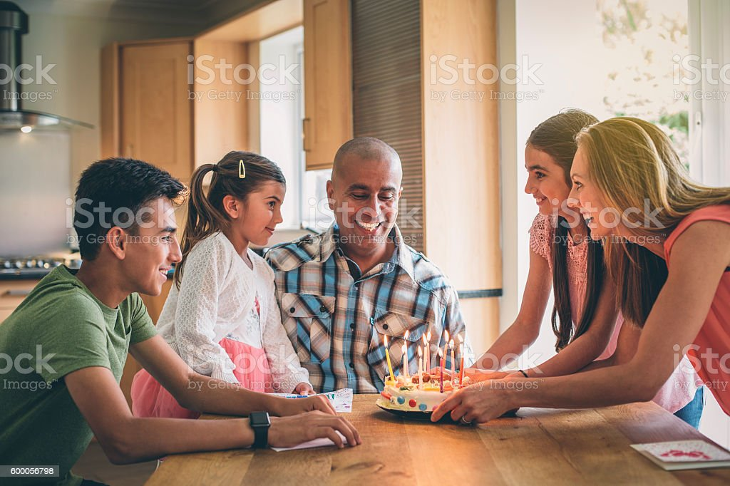 Blow out the candles! stock photo